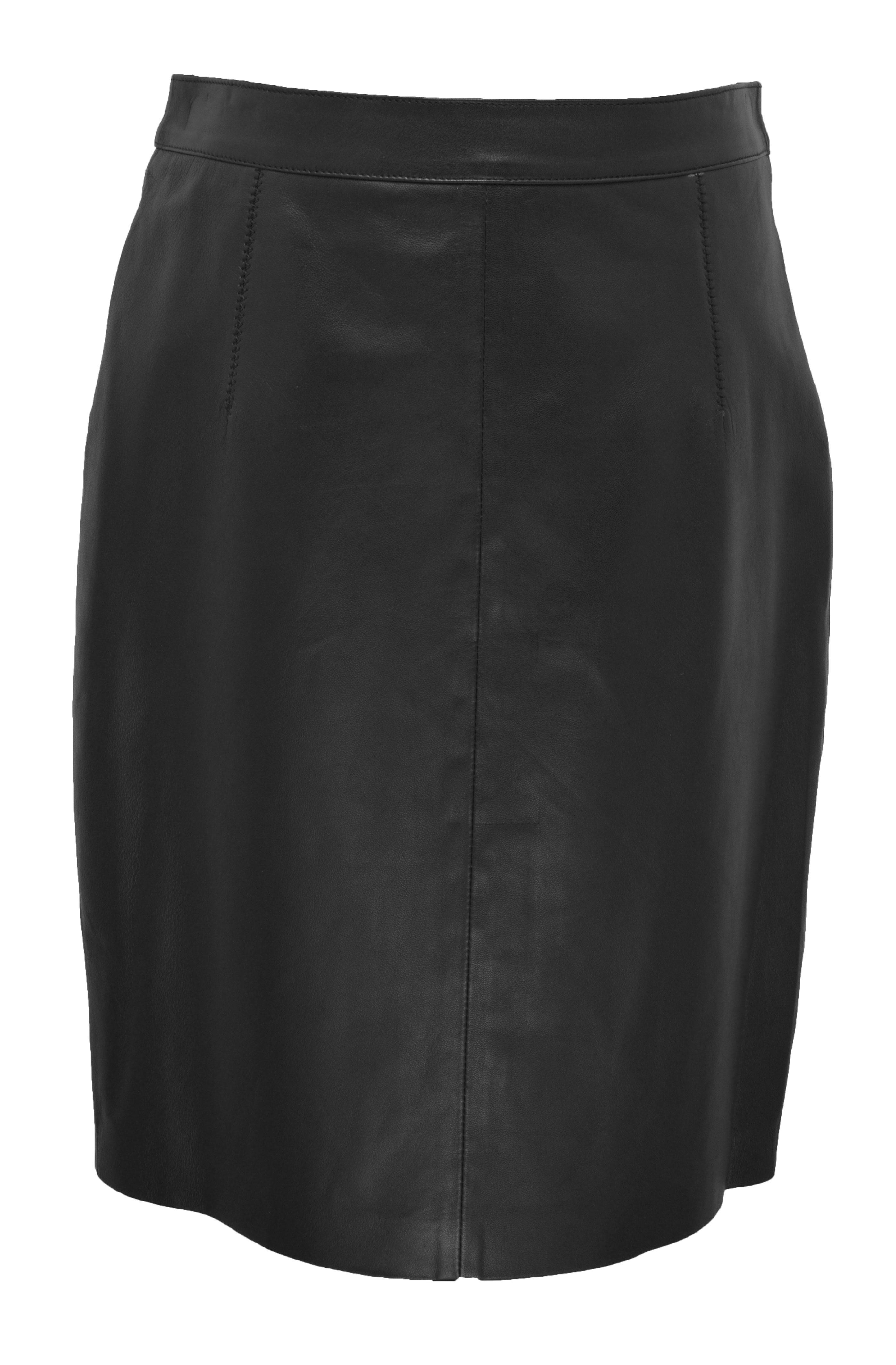 Vêtement en cuir Robes & jupes cuir noir