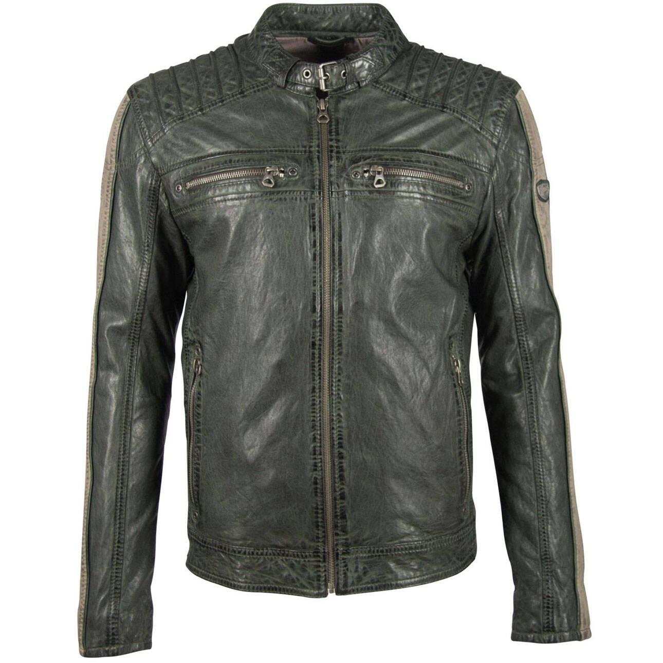 Vêtement en cuir Blousons cuir vert, taupe