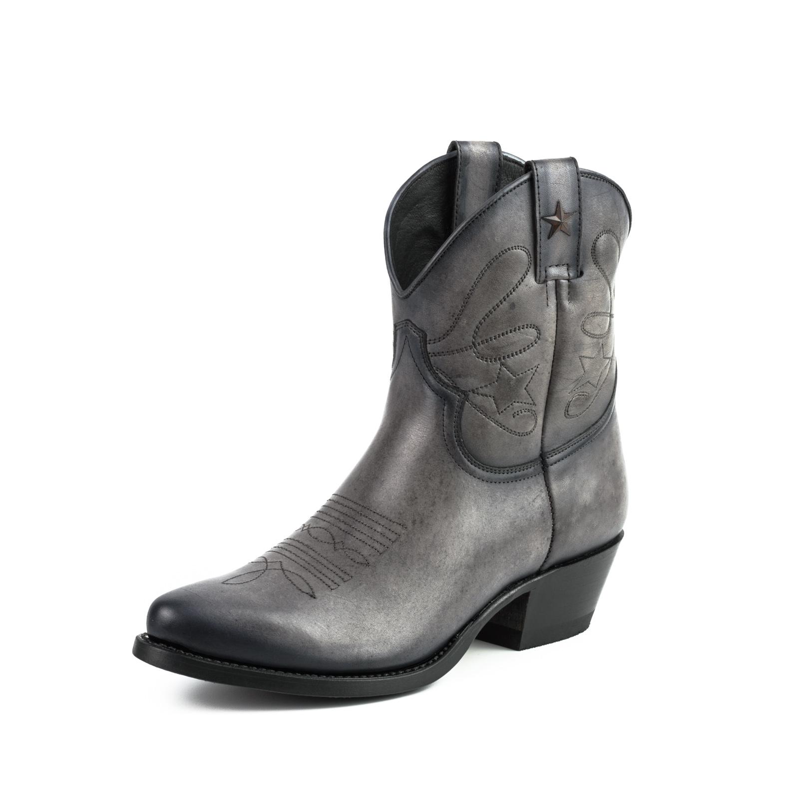 Vêtement en cuir Santiags femme gris