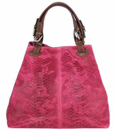 Vêtement en cuir Maroquinerie femme rose