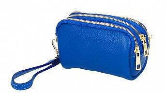 Vêtement en cuir Maroquinerie bleu