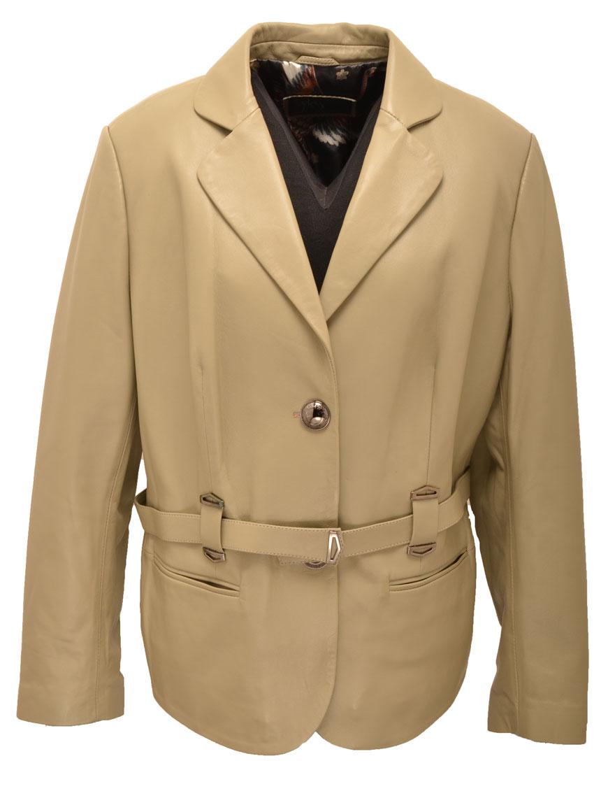 Vêtement en cuir Les bonnes affaires Femme beige