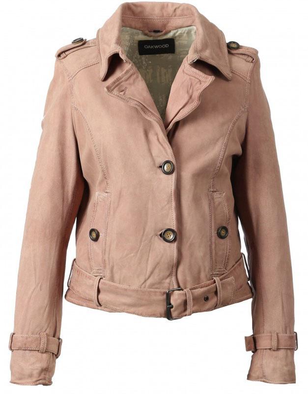 Vêtement en cuir Vestes cuir rose