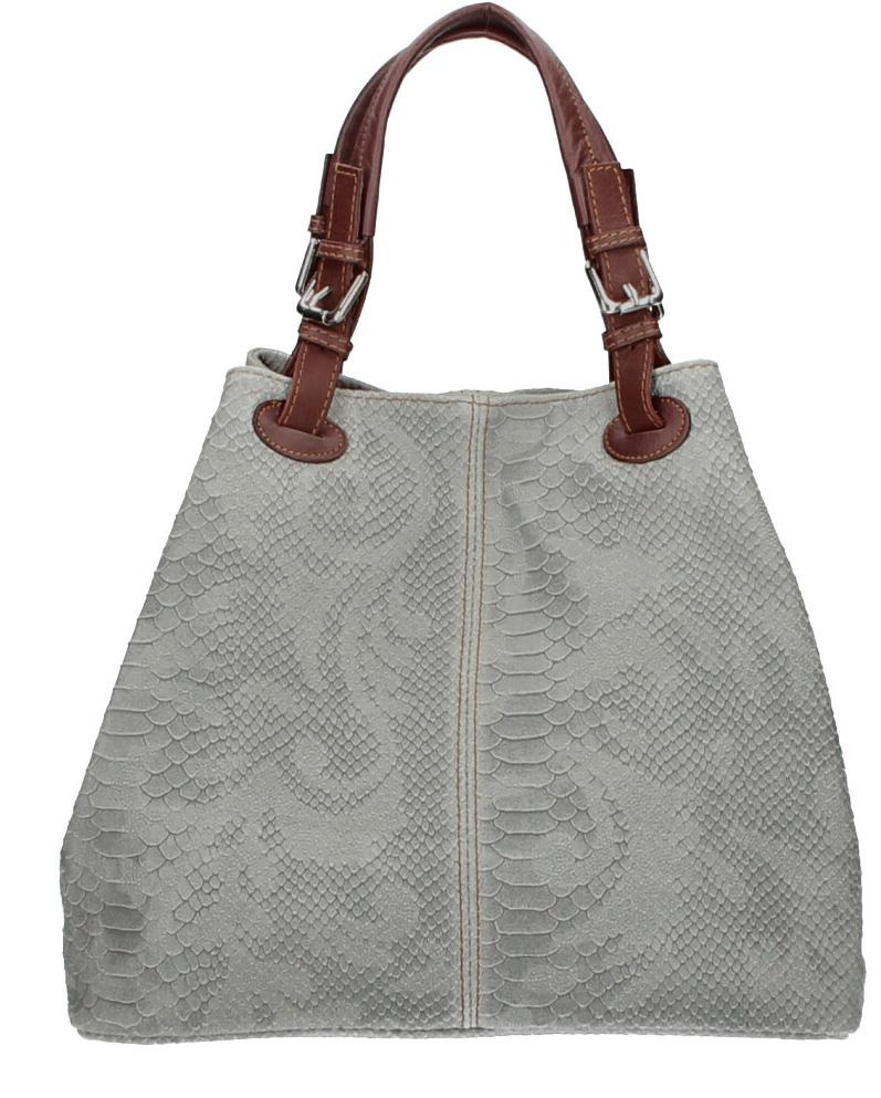 Vêtement en cuir Maroquinerie femme gris
