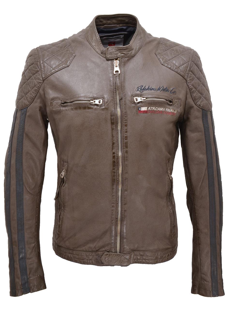 Vêtement en cuir Blousons cuir taupe