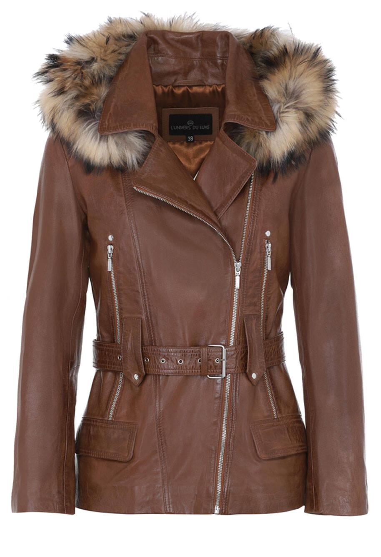 Vêtement en cuir Vestes cuir marron