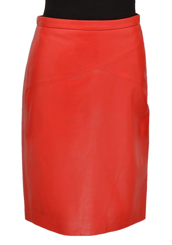 Vêtement en cuir Robes & jupes cuir rouge
