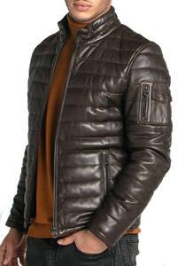 Vêtement en cuir Vestes & Trois Quart cuir marron, rouge