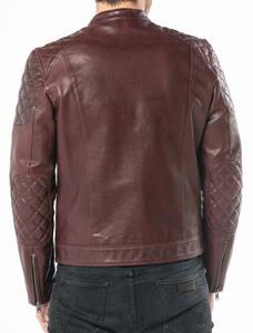 Vêtement en cuir Blousons cuir bordeaux