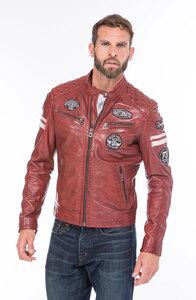 Vêtement en cuir Blousons cuir rouge
