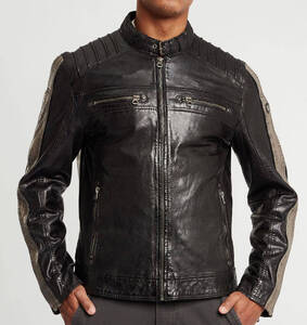 Vêtement en cuir Blousons cuir noir, taupe