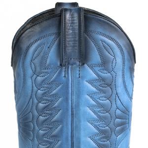 Vêtement en cuir Santiags homme bleu