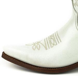 Vêtement en cuir Santiags homme blanc