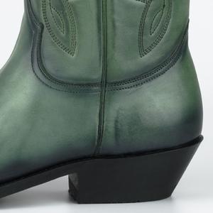 Vêtement en cuir Santiags homme vert