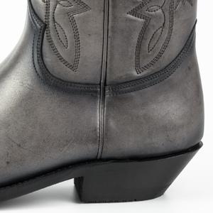Vêtement en cuir Santiags homme gris