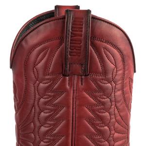 Vêtement en cuir Santiags homme rouge