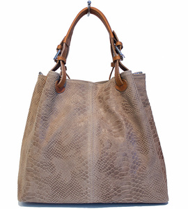 Vêtement en cuir Maroquinerie femme taupe
