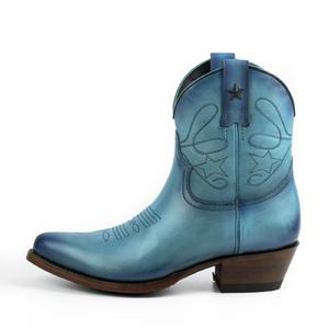 Vêtement en cuir Santiags femme bleu
