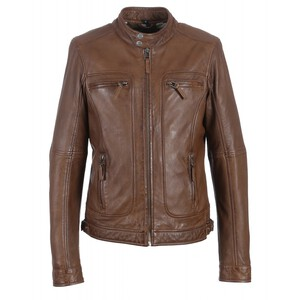 Vêtement en cuir Blousons cuir marron, camel