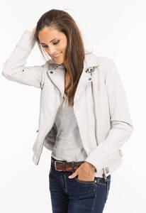 Vêtement en cuir Les bonnes affaires Femme blanc