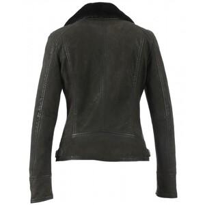 Vêtement en cuir Les bonnes affaires Femme kaki