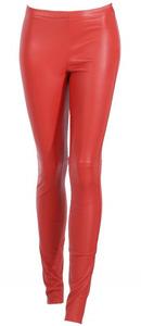 Vêtement en cuir Pantalon cuir rouge
