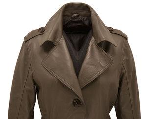 Vêtement en cuir Manteaux cuir kaki