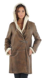 Vêtement en cuir Manteaux cuir camel