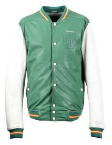 Vêtement en cuir Blousons cuir vert, blanc