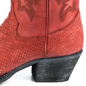 Vêtement en cuir Santiags femme rouge