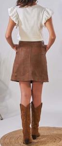 Vêtement en cuir Robes & jupes cuir fauve