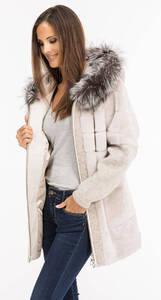 Vêtement en cuir Manteaux cuir beige