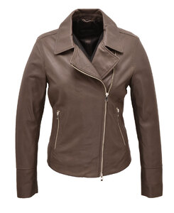 Vêtement en cuir Les bonnes affaires Femme gris