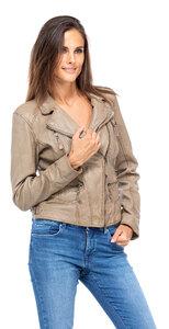 Vêtement en cuir Blousons cuir beige