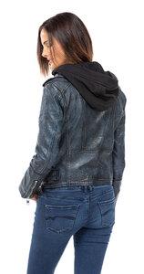 Vêtement en cuir Blousons cuir noir, bleu