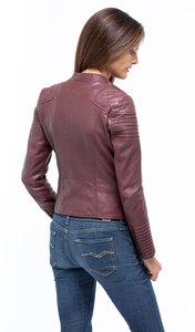 Vêtement en cuir Les bonnes affaires Femme bordeaux