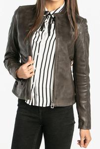 Vêtement en cuir Blousons cuir gris
