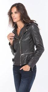 Vêtement en cuir Blousons cuir noir, rouge