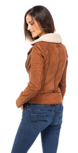Vêtement en cuir Les bonnes affaires Femme cognac