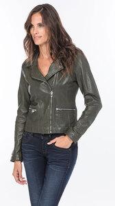 Vêtement en cuir Les bonnes affaires Femme vert