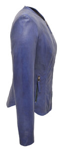 Vêtement en cuir Les bonnes affaires Femme bleu