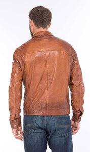 Vêtement en cuir Vestes & Trois Quart cuir fauve