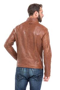 Vêtement en cuir Blousons cuir cognac