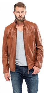 Vêtement en cuir Vestes & Trois Quart cuir cognac
