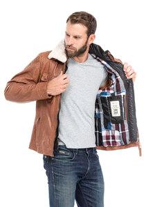 Vêtement en cuir Les bonnes affaires Homme cognac