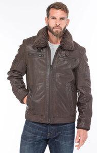 Vêtement en cuir Vestes & Trois Quart cuir marron