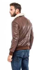 Vêtement en cuir Blousons cuir marron