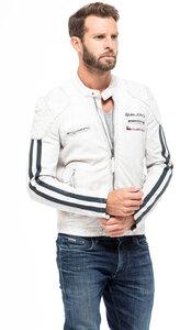 Vêtement en cuir Blousons cuir blanc