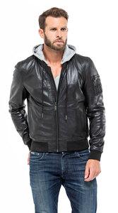 Vêtement en cuir Les bonnes affaires Homme noir