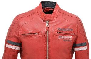 Vêtement en cuir Les bonnes affaires Homme rouge